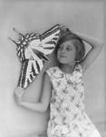 Cardboard Monarch butterflies