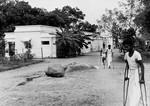 Boliger til de spedalske patienter i Vadathorasalur, Arcot, Sydindien. Foto fra 1970erne, Housing for the leper patients at Vadathorasalur, Arcot, South India. Photo from 1970s