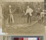 Crocodile hunting, Shire River, Malawi, ca.1900