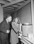 Photograph of pianist Arthur Rubenstein and actress Bette Davis