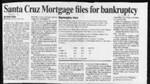 Santa Cruz Mortgage files for bankruptcy