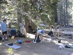 Breaking camp at Laws Camp