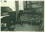 Bridges Hall of Music choir rehearsal, Pomona College
