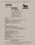 Horse Sense--Horse Dat 1989