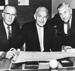 Casey Stengel, John Lawson, and Linus Southwick