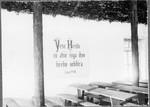 Inside of the chapel near Mamba, view of the north side, Mamba, Tanzania, ca.1901-1908