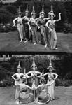 Five women in folk costumes