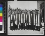 Newly ordained Chinese Pastors, Yongchun, China, 1948