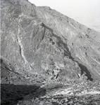 Distant view of mountain retreat in Korea