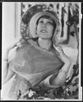 Peggy Hamilton modeling a large-brim hat, 1932