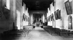Mission San Gabriel Arcangel, altar and pews
