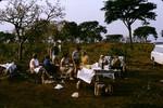 Norwegian missionaries on picnic, the Duru falaise, Adamaoua, Cameroon, 1953-1968