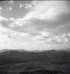 Village, landscape, and sky