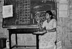 BLM-D, Bangladesh. Lærer i en landsbyskole, 1990. (Navn på lærer?), BLM-D, Bangladesh. The teacher of a village school, 1990. (Name of the teacher?)
