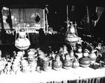 Display of small pots