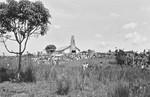 Inauguration of Minziro Church, the North Western Diocese, Kagera Region, Tanzania, 1988. The c, Indvielse af Minziro Kirke i Nordveststiftet, Kagera-regionen, Tanzania, 1988. Kirken er tegnet af DMS missionær, arkitekt Karl Emil Lundager