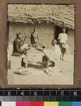 Tailors at work outdoors, Kambole Mission, Zambia, ca. 1925