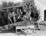 Preparing YMCA Christmas tree sale