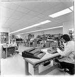 Repairing typewriters at King's Office Supplies, Santa Rosa, California, 1981