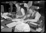 News desks, Los Angeles Times, Los Angeles. 1941
