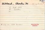 Hibbard, Charles M