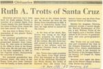 Ruth A. Trotts of Santa Cruz