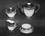 Gold band tea set