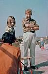Niels Anton Dam med datteren, Anna Ragnhild. Arkitekt Niels Anton Dam, udsendt af Dansk Santalmission til byggeopgaver i Øst Pakistan, 1966-69. Blev senere koordinator for Folkekirkens Nødhjælps arbejde under oversvømmelser og borgerkrig i Bangladesh. Fra 1974 leder af et stort rehabiliterings-projekt for flygtninge i Bangladesh, efterfulgt af 6 år som rådgiver i Noakhaliprojektet for Danida og regeringen i Bangladesh. (Foto ca. 1975), Niels Anton Dam with his daughter, Anna Ragnhild. Architect Niels Anton Dam, sent by Danish San
