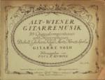 Alt-wiener gitarremusik 25 originalcompositionen un transcriptionen von Diabelli, Giuliani, Kauer, Mertz, Nemetz, Sperl u.a. für gitarre solo