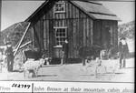 Men at Mountain Cabin