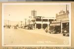 The Hotel I stoped [sic] at in June 1936. J.B. Cook & wife. Street scene, Mojave, California. Frashers Fotos, Pomona, Calif