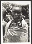 A Bororo woman with her jewellery and many amulets, Bororofrau mit ihrem Schmuck u. vielen Amuletten