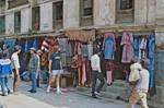 Fra forretningskvarteret i Kathmandu City Center, Nepal, hvor der altid er mange mennesker, From the business district of Kathmandu City Centre, always with a lot of people around