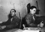 Privates at their desks