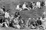DMS's grundlovsmøde 05/06/1969. As you know, there can be no more people gather for meetings an, DMS's grundlovsmøde 5.6.1969. Som bekendt kan der ikke mere samles mennesker til møder og foredrag, men på dette års møder var der forsamlet over 1000 mennesker. Mødet blev åbnet af pastor Sv. Aa. Olsen. Der blev talt af missionærerne Finn Allan Petersen (Ellerbek) og Stinne Korsgaard Pedersen
