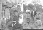 Women washing laundry and domestic staff, Ricatla, Mozambique, ca. 1896-1911