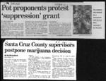 Pot proponents protest 'supression' grant