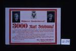 Schwerer Landesverrat! 3000 Mark Belohnung! ... Der Polizei-Prasident, Lindig, Geheimer Regierungsrat