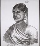 Hindu woman with jewellery, Hindufrau im Schmuck
