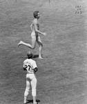 Streaking across the baseball field