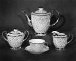 Gold lace tea set