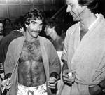 Men in bathrobes