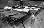 Evacuation center in Whittier