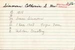 Simmons, Catherine