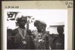 Brides of the Nkorang tribe (near Nwereme) with silver jewellery, Bräute v. Nkorangstamm (b. Nwereme) m. Silberschmuck