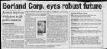 Borland Corp. eyes robust future