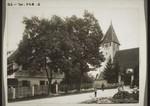 Pfarrhaus und Kirche in Nellingen a. d. Alb. Hebichs Geburtshaus, The pastor's house and the church in Nellingen on the Alb, Hebich's birthplace