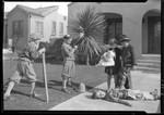 Kids making movies, View Park, Los Angeles. 1928