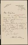 Arthur Rackham, letter, 1922-09-27, to Hamlin Garland