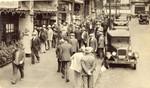 Street scene outside cafes during strike of 1934